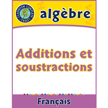 Algèbre: Additions et Soustractions An. PK-2