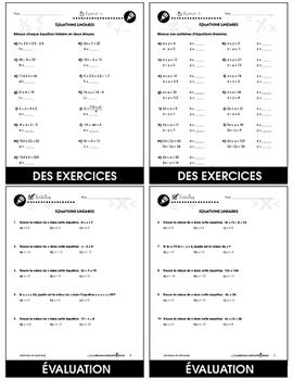 Algèbre: Équations Linéaires An. 6-8
