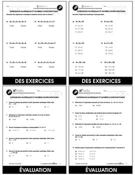 Algèbre: Expressions Numériques et Nombres Complémentaires An. PK-2
