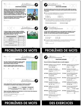 Algèbre: Fonctions Linéaires An. 6-8