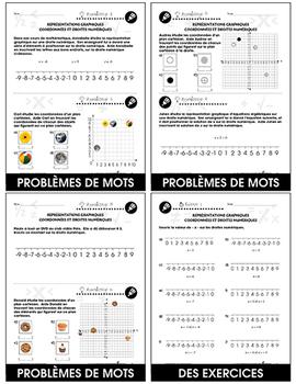 Algèbre: Représentations Graphiques Coordonnées et Droites Numériques An. 3-5