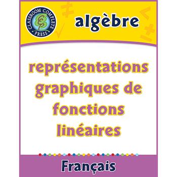 Algèbre: Représentations Graphiques de Fonctions Linéaires An. 6-8