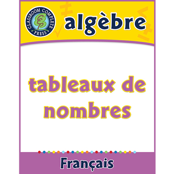 Algèbre: Tableaux de Nombres An. PK-2