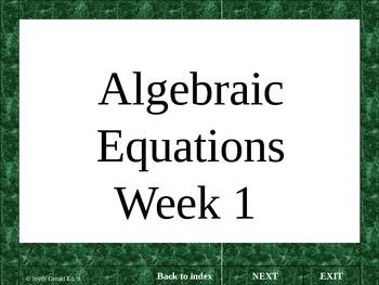 Algebraic equations: teaching tool for algebraic reasoning.