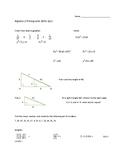 Algebrs II Pre-requisite Quiz