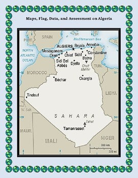 Algeria Geography, Flag, Data, Maps Assessment - Map Skills and Data Analysis