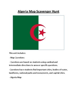 Algeria Map Scavenger Hunt