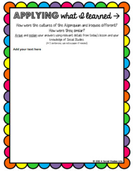 Algonquian Native Americans