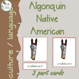 Algonquin  3 Part Cards PRINT