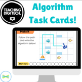 Algorithm Task Cards + Seesaw Compatible ACTDIP004 ACTDIP010