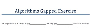 Algorithms Gapped Exercise