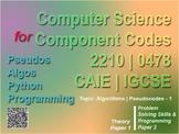 Algorithms | Pseudocode Part 1 - Worksheet