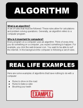 Algorithms (Unplugged Coding #1)
