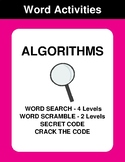 Algorithms - Word Search Puzzles, Word Scramble,  Secret C