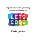 Algorithms and Programming Coding Unit Lessons Resources Kindergarten VDOE Align