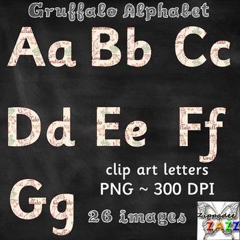 DOLLAR DEAL Alphabet Clipart - Gruffalo