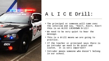 Alice Evacuation Drill for Special Education