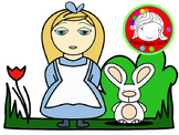 Alice Fairy Tale Clipart Set (Personal & Commercial Use)