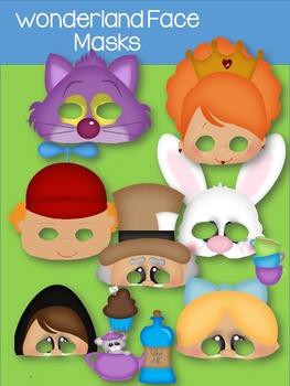 Alice In Wonderland Paper Masks-Printables