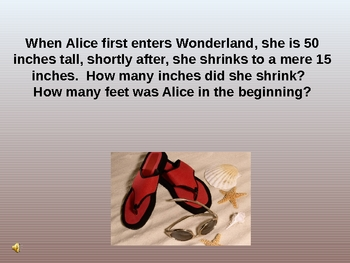 Alice In Wonderland Power Point Lesson Plan