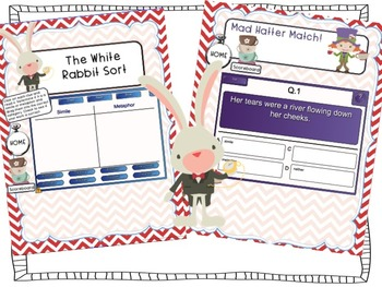 Alice In Wonderland Similes & Metaphors Smartboard Game