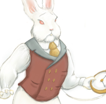 Alice In Wonderland White Rabbit Illustration