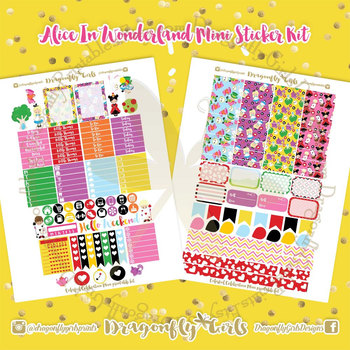 photograph relating to Alice in Wonderland Printable identify Alice Within just Wonderland Printable Planner Stickers Mini Package