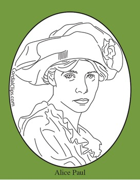 Alice Paul Clip Art, Coloring Page or Mini Poster