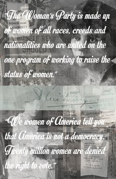 Alice Paul - Poster with Quotes