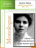 Women History - Alice Paul - Women's Suffrage Leader (1885