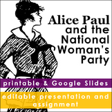 Alice Paul Editable Presentation