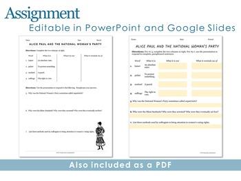 Alice Paul Editable Presentation
