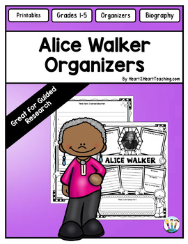 Alice Walker Research Organizers for Projects for Black History Month