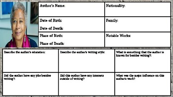 Alice Walker: Author Biography Assignment