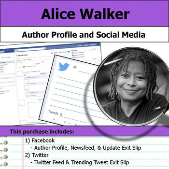 Alice Walker - Author Study - Profile and Social Media