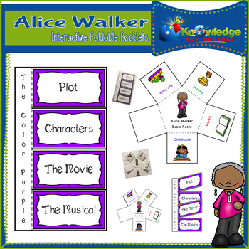 Alice Walker Interactive Foldable Booklets - Black History Month