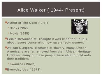 "Alice Walker's ""Everyday Use"" Background Information"