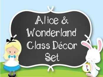 Alice & Wonderland Classroom Decor-Editable!
