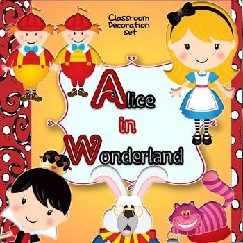 Alice and Wonderland Classroom Decorating Kit-Editable!