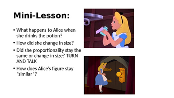 Alice and Wonderland Similar Figures PPT lesson