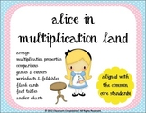 Alice in Multiplication Land (Games, Foldables, Worksheets, Charts) CC aligned