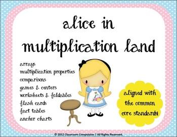 Alice in Multiplication Land (Games, Foldables, Worksheets