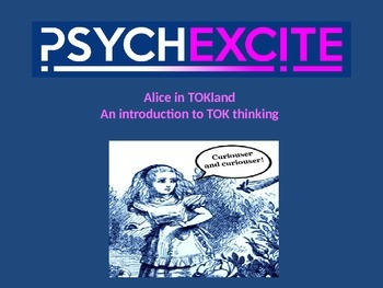 Alice in TOKland an introduction to ToK thinking staff or