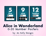 Alice in Wonderland 0-20 Number Posters