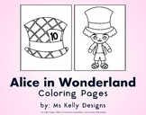 Alice in Wonderland 10 Coloring Pages Set