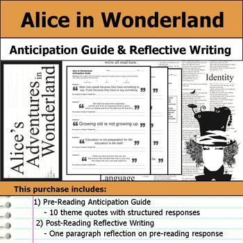 Alice's Adventures in Wonderland - Anticipation Guide & Reflection