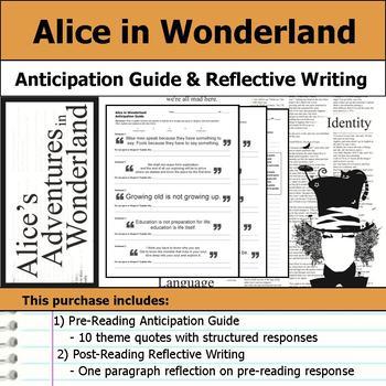 Alice's Adventures in Wonderland - Anticipation Guide & Re