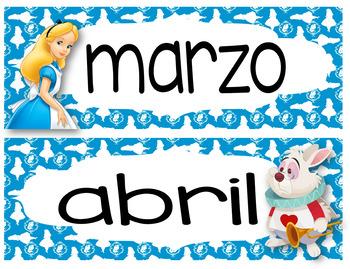 Alice in Wonderland Calendar 24x20 Bilingual
