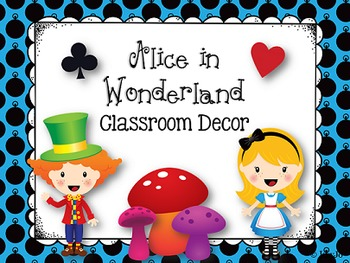 Alice in Wonderland Classroom Decoration