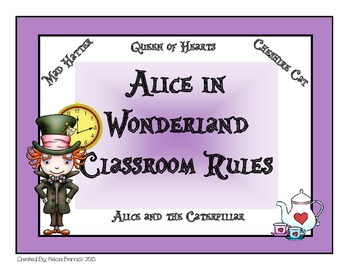 Alice in Wonderland Classroom Rules